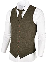 f03e72a4f465 Amazon.fr   Beige - Gilets   Costumes et vestes   Vêtements