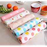 Maharsh Printing Antibacterial Cabinet Plastic Foam Household Wardrobe Moisture Drawer Pad Waterproof Non-Slip Paper Kitchen Cupboard Liners Roll Mat, 30x300 cm (Multicolour) - Set of 3