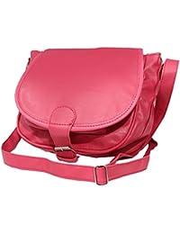 Genuine Leather Pink Sling Bag Cross Body For Women & Girls(SL-74)