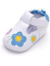 Bebè bambina sneakers in pelle PU con girasole