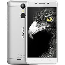 "Haehne Ulefone Metal, 5,0"" HD 4G Smartphone, Android 6.0 Octa Core 3GB+16GB, 5MP+13MP Duales Cámaras, Huella Dactilar Estela Inteligente, Dual SIM, Plata"