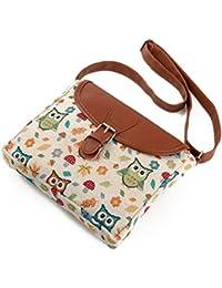 77598f78f8cad Umhängetasche Eule Hippie Boho Schultertasche Crossbody Tasche Kleine Tasche  Handytasche für Damen…
