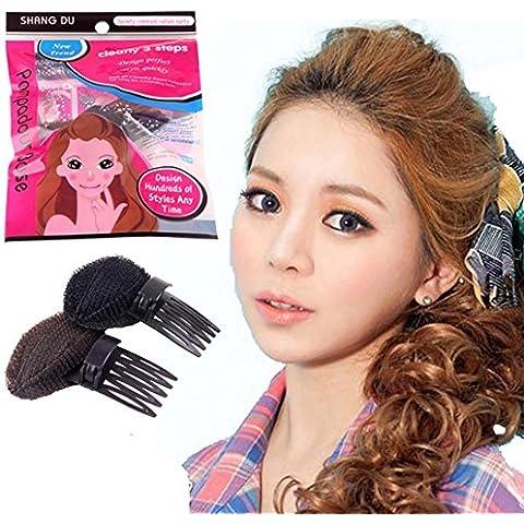 XYXY DIY pelo antes Puff paste princesa cabeza mayor control pad de pelo flequillo palo peinado pelo herramientas (paquete de