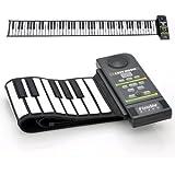 SHOPINNOV Synthétiseur clavier de piano flexible 88 touches Haut-parleur