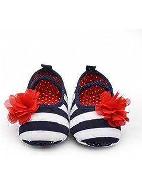 Hongfei Stripes Soft Elastic Crib Shoes Baby Girl's Shoes