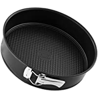 Zenker Springform Ø 26 cm, Backform mit Antihaftbeschichtung, runde Kuchenform mit Flachboden (Farbe: schwarz), Menge: 1 Stück