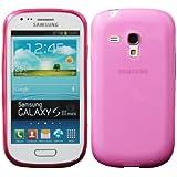 Luxburg® Glaze Design Schutzhülle für Samsung Galaxy S3 Mini GT-I8190 in Farbe Erikaviolett / Rosa, Hülle Case aus TPU Silikon
