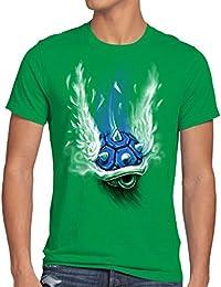 style3 Blauer Panzer T-Shirt Herren kart videospiel konsole mario