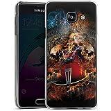 Samsung Galaxy A3 (2016) Housse Étui Protection Coque Guitare Tête de mort Crâne