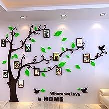 vinilo d acrilico de pared arbol genealogico con marcos para fotos familia x m