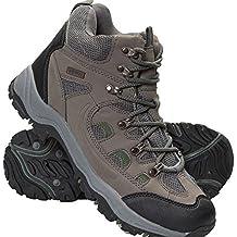 Mountain Warehouse Botas Adventurer para hombre - Zapatillas altas de tejido y material sintético para caminar, zapatillas de verano con agarre adicional para hombre