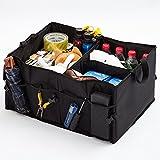 L&HM Caja de Almacenamiento Auto/Organizadore Plegable con Asas para Maletero del Coche para Automóviles, SUV, Mini Van, Camioneta, Viajes, Vacaciones, Camping y Hogar
