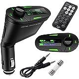BESTOW® Car Kit MP3 Player Wireless FM Transmitter Modulator USB SD MMC LCD With Remote Green Light