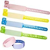 SwirlColor Bracelet Securite Enfant, Bande Jetable Identification de PVC de événementiel Bracelets pour Le Paquet de Sécurité