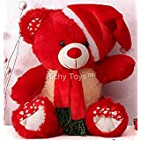 Richy Toys Santa Teddy Bear Plush Stuffed Soft toys Animals Birthday Gift For Kids 38CM (Red)