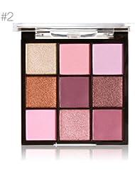 MARIA AYORA 9 couleurs Cosmétiques Poudre Fumée Fard à Paupières Palette Maquillage Ensemble (B)