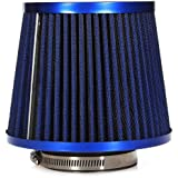 Air Filter - TOOGOO(R)Universal Car Air Filter Vehicle Induction Kit High Power Mesh Finish Sport azul