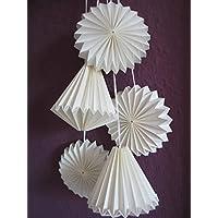 1 Set Origami-Anhänger Papierdeko Plisseeanhänger Ornamente Papierstern Origamistern