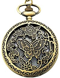 Young & Forever Mothers Day Gifts On Time Retro Antique Bronze Designer Premium Vintage Flirty Butterflies Pocket...