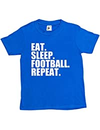 Fancy A Snuggle Eat. Sleep. Football. Repeat. Footy Kids Boys / Girls T-Shirt
