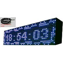 Cartel LED programable con Sensor de Temperatura y Reloj 64x16 cm / Letrero programable / Pantalla