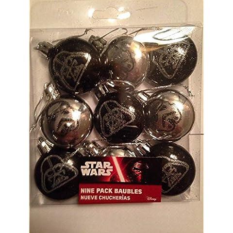 Disney Star Wars Árbol de Navidad bolas de Navidad (9unidades ~ Storm Troopers ~ Darth Vader