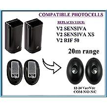 V2 RIF50, V2 SENSIVA, V2 SENSIVA XS fotocélulas de infrarrojos compatible, 12 –