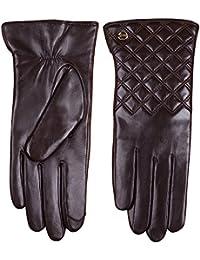 ELMA Touchscreen-Winterhandschuhe für Damen, aus Nappaleder, für iPhone, iPad, Smartphone