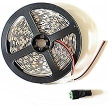 12V LED tira flexible 300unidades 5050LED, 720lm/14.4W para Metro, blanco, 3000Kelvin, no es resistente al agua, 5m de cada unidades, iluminación tira de LED, barras luminosas LED, Tira de LED, tiras de LED [Clase energética A +]