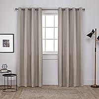 Exclusiva casa cortinas Carling cortina Panel par, lino, 52x cortinas con, 2piezas