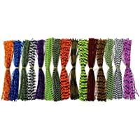 15 paquetes de hilos de 13 cm de Tigofly, de silicona, con copos de perlas, para anudamiento de mosca de bricolaje y para formar faldones y cucharillas, de colores exclusivos
