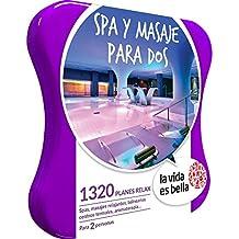 LA VIDA ES BELLA - Caja Regalo - SPA Y MASAJE PARA DOS - 1320 planes relax como masajes relajantes, circuitos spa, aromaterapia y muchos más