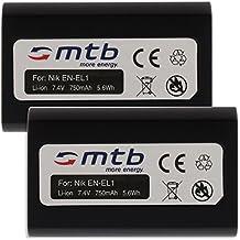2x Baterías EN-EL1 para Nikon Coolpix 775, 880, 885, 995, 4300, 4500, 4800