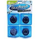 U B L 4 pieces Automatic Toilet Bowl Tank Fresh Cleaner Blue Tablets Block