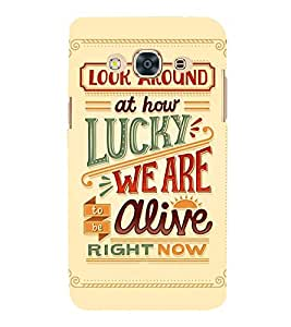 Fiobs Designer Back Case Cover for Samsung Galaxy J3 Pro :: Samsung Galaxy J3 (2017) (Look Around How Lucky We Are Alive Zinda Mobile Cover)