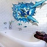 Saingace Entfernbarer Delphin 3D Meer-Ozean-Aufkleber-Wand-Abziehbild-Wand-DIY Dekor-Kind-Raum Art Wandaufkleber Wandtattoo Wandsticker