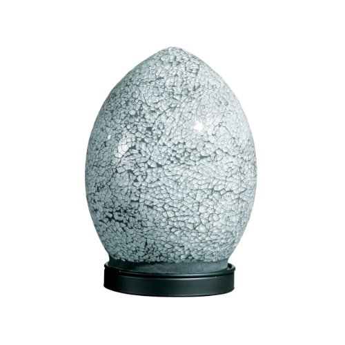 Mosaic Egg Lamp, Glass, White, Small