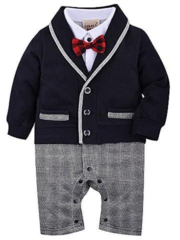 Costumes Le 60 - ZOEREA 1pcs bébé Gentleman Romper Costumes costume