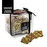 Croccante al pistacchio 36 pz. - Il caffè italiano - Prodotto artigianale Siciliano - Croccante alla mandorla - Pasticceria artigianale Siciliana (Croccante al Pistacchio)