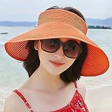 Sombrero de paja del sol de las señoras Protector solar femenino del verano  Sombrero grande de 989132814ae