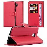 Cadorabo - Custodia a Libro per Lenovo Google Nexus 6/ 6X, con Scomparto per Carte di Credito e Funzione leggio, Colore Rosso Carminio