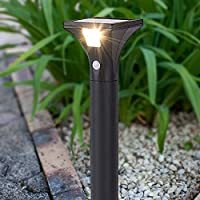 Blusea Solar Path Lights with PIR Motion Sensor Outdoor Garden Yard Landscape Patio Sidewalk Lawn Pathway Driveways
