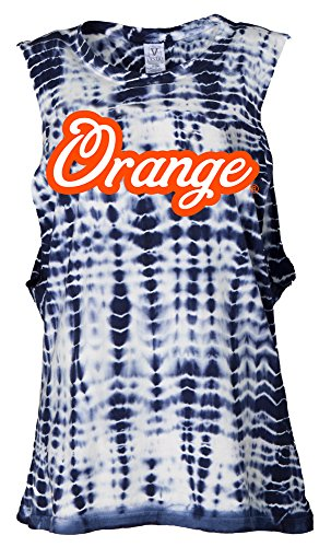 Venley Damen Syracuse Orange Opal Alligator-Wash Muscle Tank, Damen, Opal Women's Alligator-Wash Muscle Tank, Navy