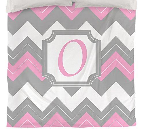 Manuelle holzverarbeiter & Weavers Bettbezug-, Monogramm Buchstabe O, pink Chevron -
