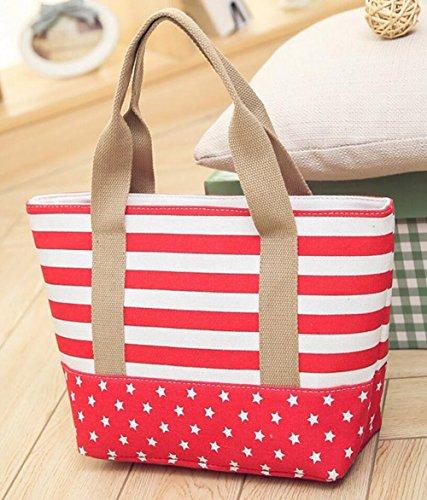 Borsa Tote a tracolla tela casual Shopping Bag 35*12*31 CM rosso