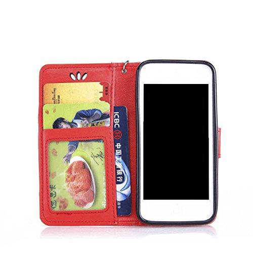 Apple iPhone 6G 4.7 Custodia,Apple iPhone 6G 4.7 Cover,Cozy Hut Creative Goffratura farfalla Bronzing Schema Ultra Slim TPU Copertura Della Cassa Del Custodia Case Tacsa Protettiva Shell per Apple iPh Big Red