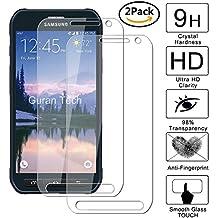 [2 Unidades] Guran® Protector de Pantalla Vidrio Cristal Templado Para Samsung Galaxy S6 Active Smartphone Cristal Vidrio Templado Film