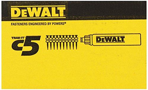 DeWALT C5 Nägel 15 mm und 1x Gaskartusche, 800 Stück, DDF6110000
