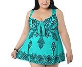 Evedaily Damen Badeanzug Große Größen Tankini Zweiteiliger Badebekleidung