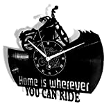 Instant Karma Clocks Orologio in Vinile da Parete Disco LP 33 Giri Idea Regalo Vintage Handmade Moto Motociclista Rider